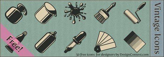 Free Vintage Design Icons