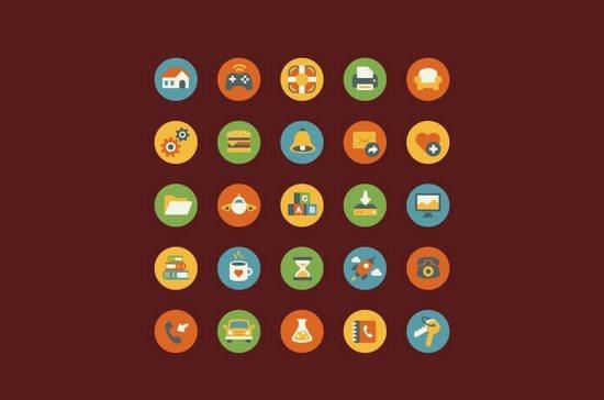Free Vintage Flat Icons