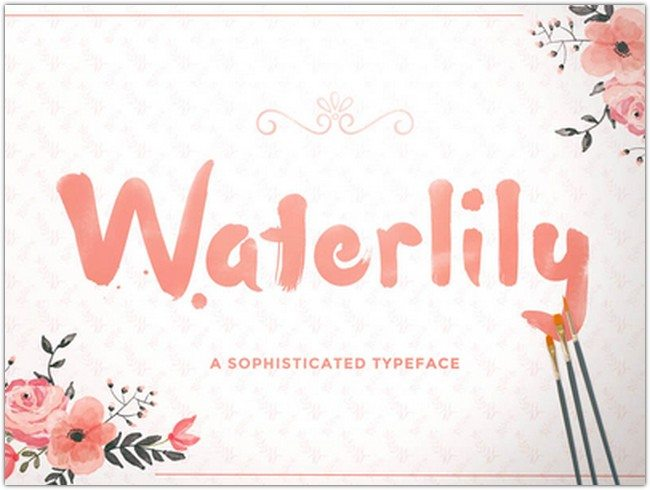 Free Waterlily Font
