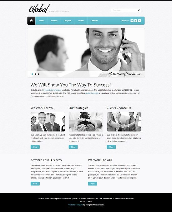 Free Website Template - Business Site