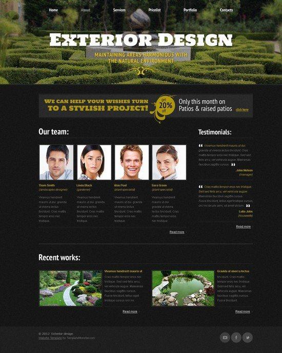 Free Website Template - Exterior Design