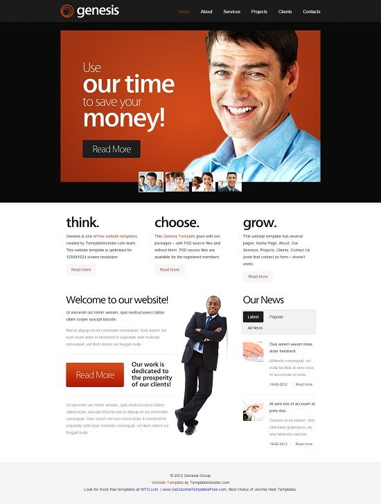 Free Website Template for Business Site