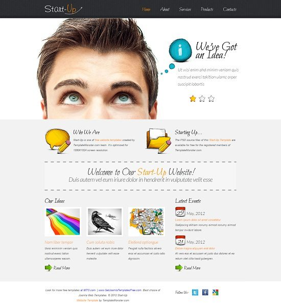 Free Website Template for a Business Website