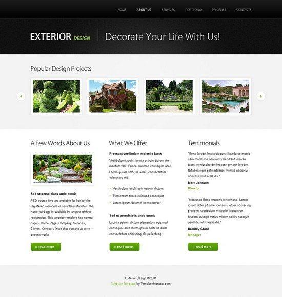 Free Website Template w/ jQuery Slideshow – Design