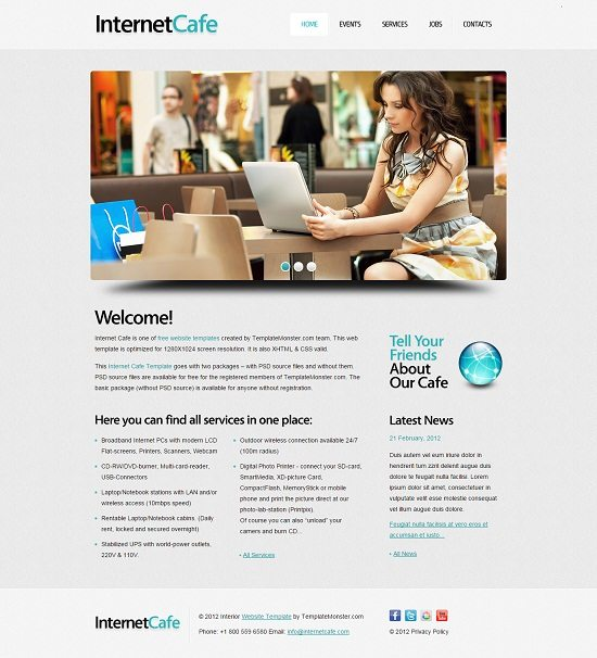 Free Website Template with jQuery Slider