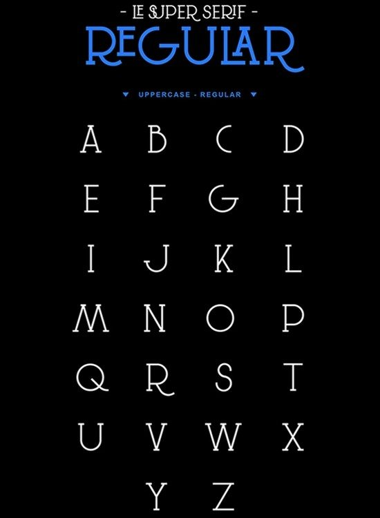 Free font Le Super Serif
