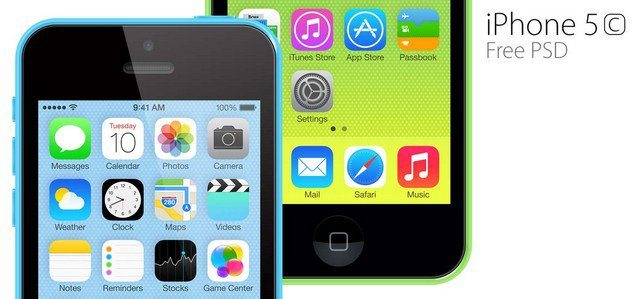 Free iPhone 5c PSD