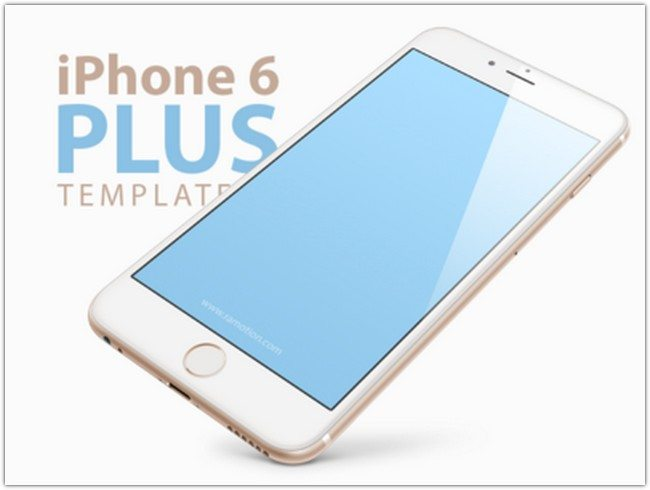 Free iPhone 6 PLUS, 5.5-inch Templates [PSD] mockups