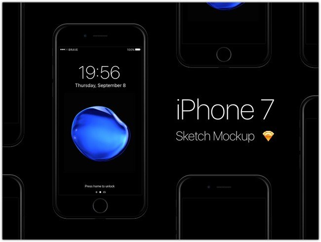 free-iphone-7-jet-black-sketch-mockup