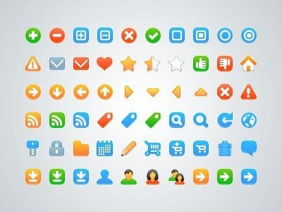 Free web development icons psd