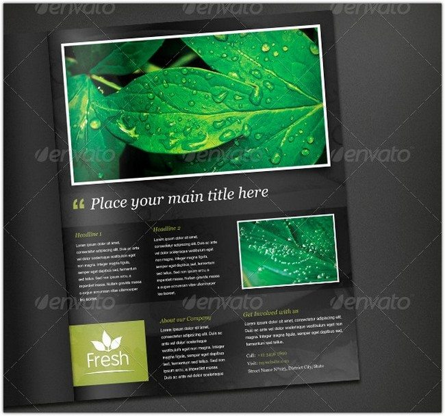 Fresh Magazine Ad Template
