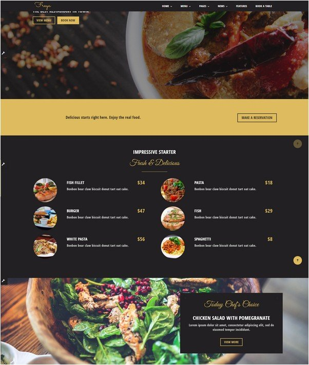 Freya - Flexible HTML Restaurant Template