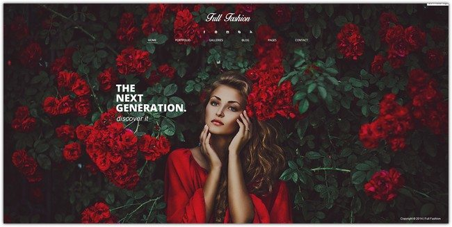 Full Fashion - an Ajax Fullscreen WP Theme