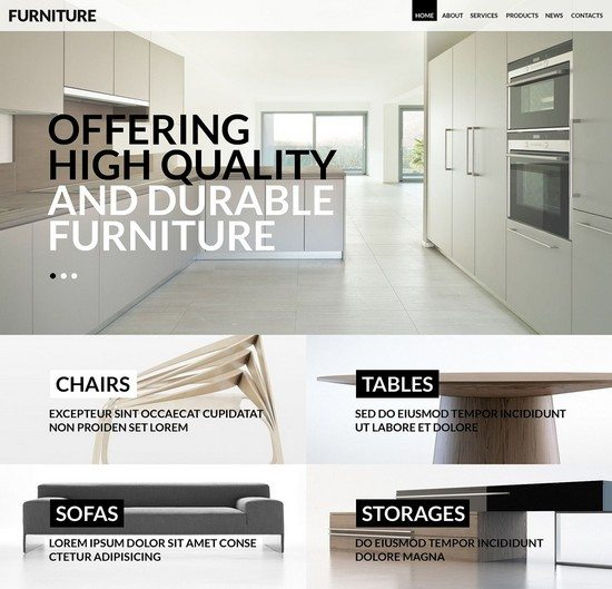 Furniture for Any Taste WordPress Theme