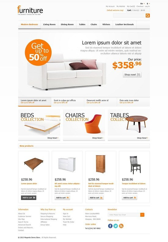 Furniture for Comfort Magento Theme