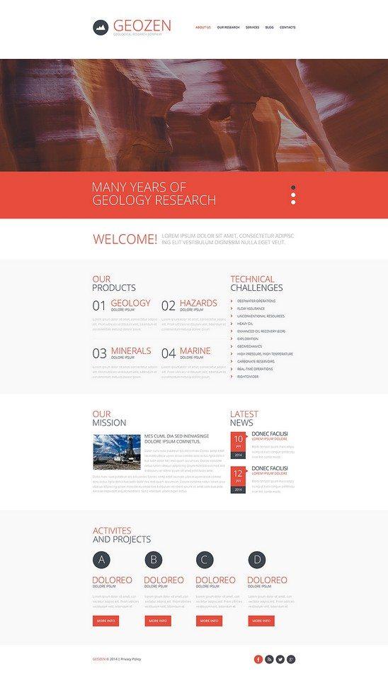 GEOZEN Environmental Responsive Website Template