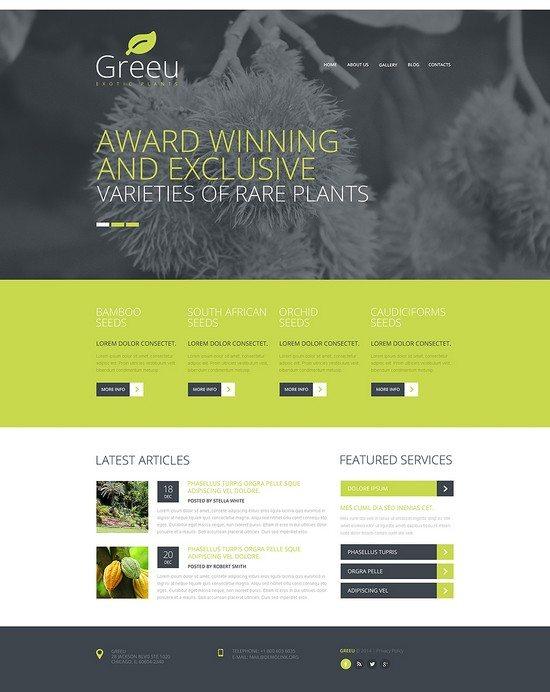 GREEU Garden Design Responsive Website Template