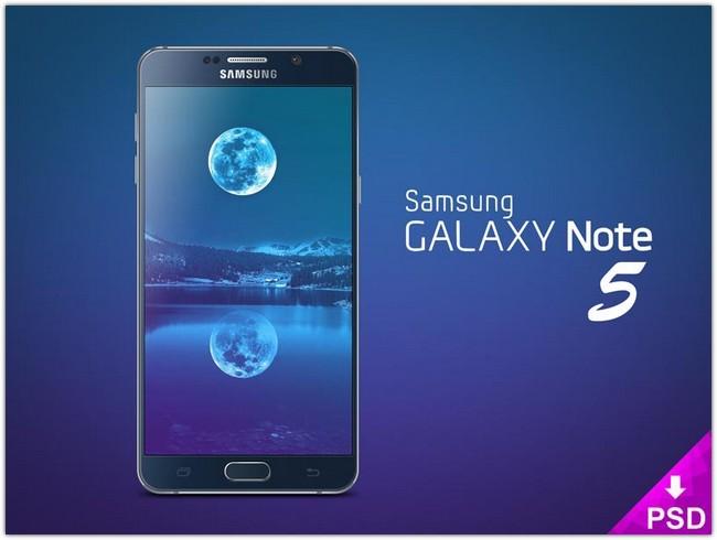 Galaxy Note 5 Mockup