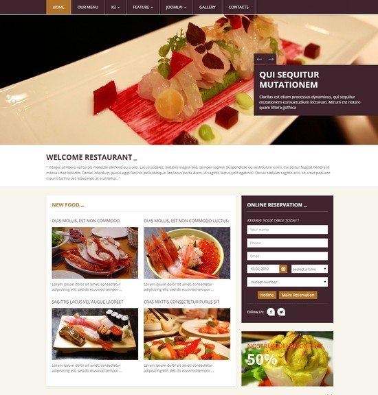 Galiana - Responsive Restaurant Joomla Template