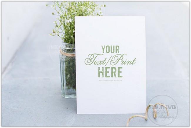 Garden Wedding Invitation Mockup