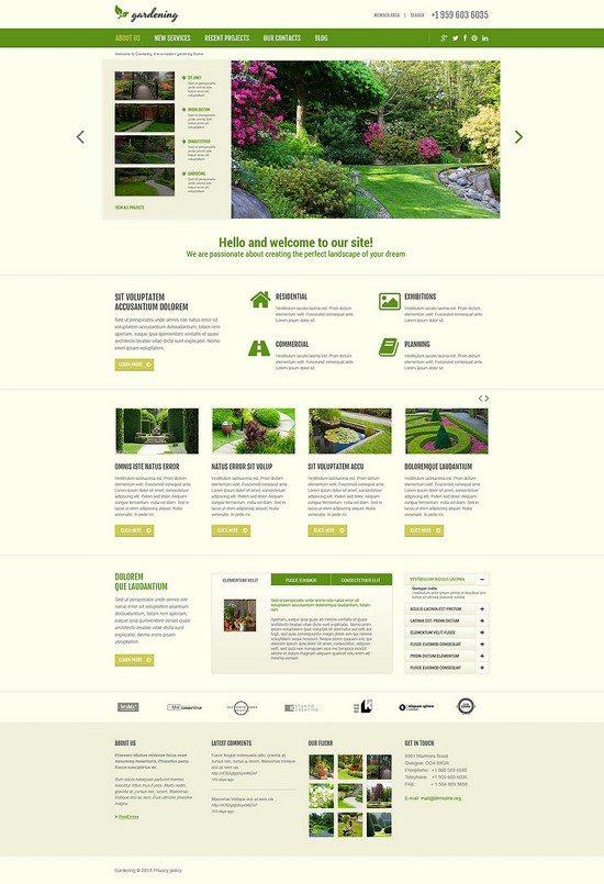 Gardening Design Responsive Joomla Template