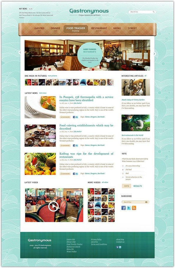 Gastronymous Food and Restaurant PSD Template