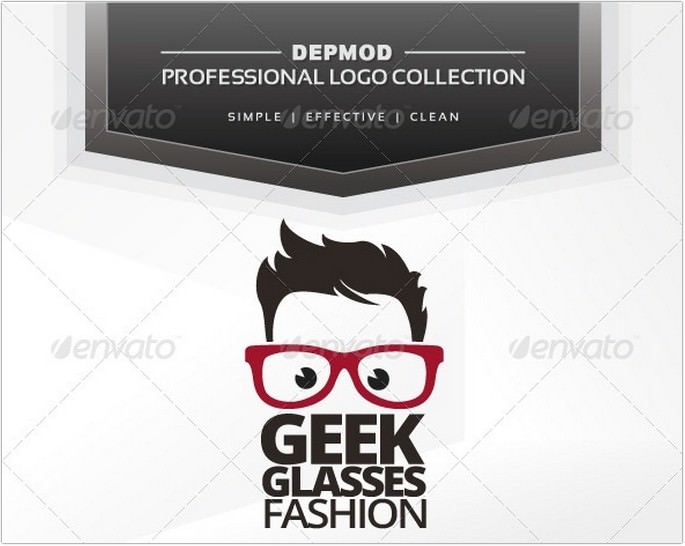 Geek Glasses Fashion Logo