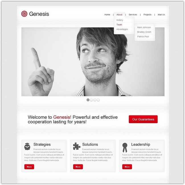 Genesis Advertising Agency Website Template