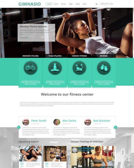 Gimnasio Responsive WordPress Theme