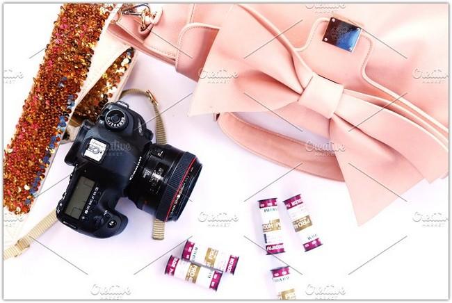 Girly Camera Mockup