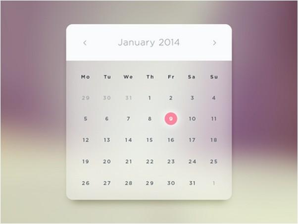 Glass Calendar