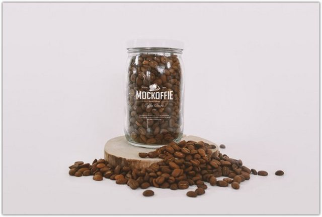 Coffee Beans PSD template
