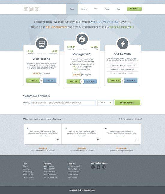 GlassHost - Premium Web Hosting Template