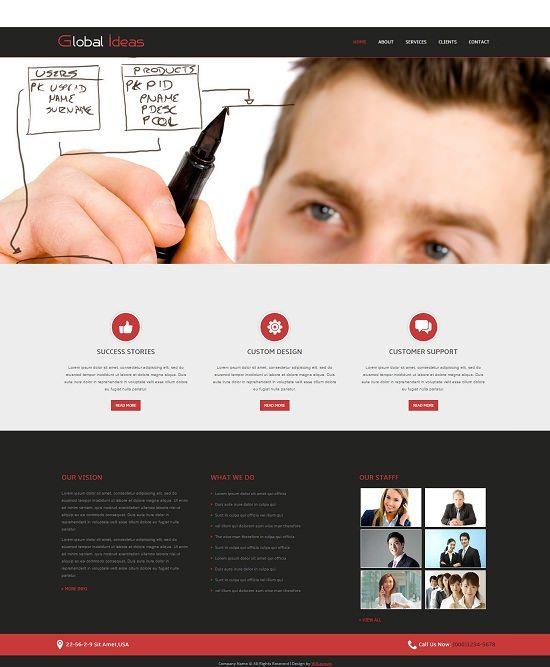 Global Ideas Corporate Mobile website Template
