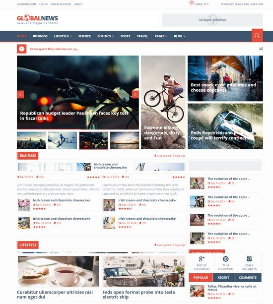 Globalnews - News & Magazine HTML5 Template