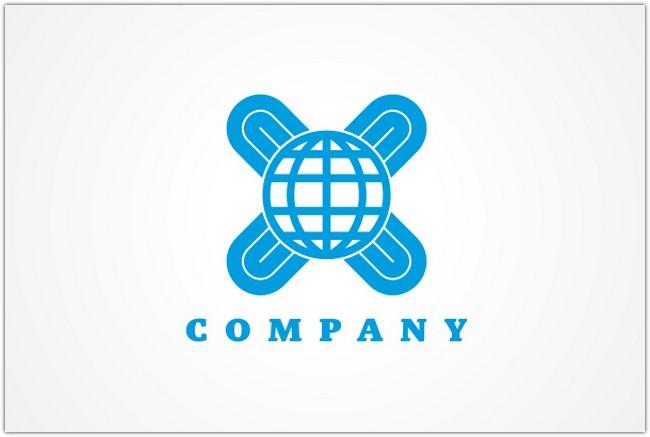 Globe and Cross Logo