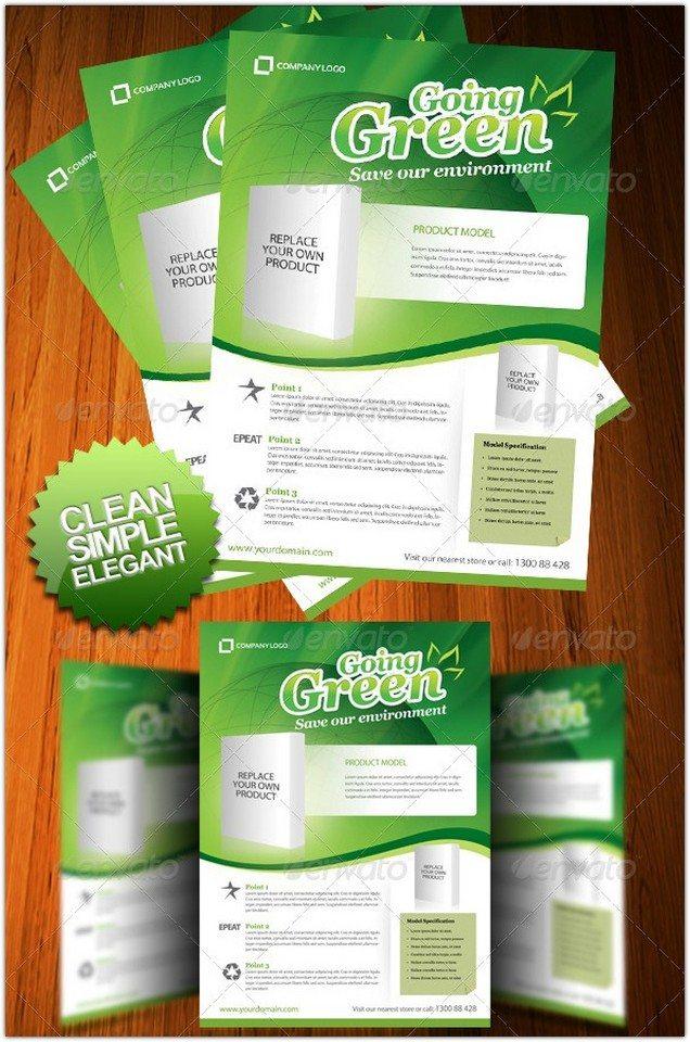 Going Green A4 Flyer