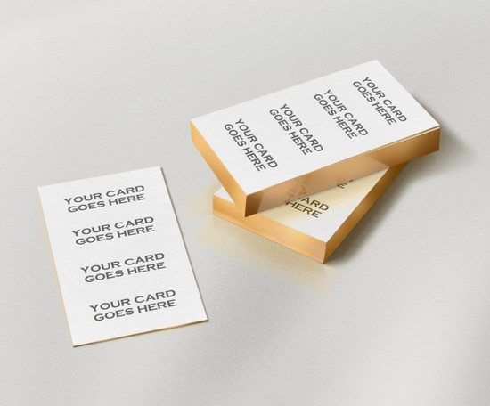 Gold Edge Business Cards MockUp
