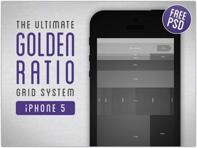 Golden Ratio Grid System for iPhone 5
