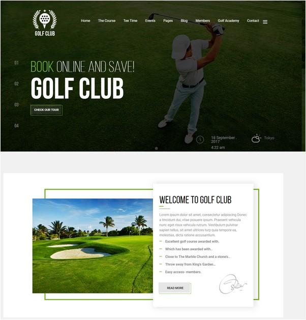 Golf Club - Golf Course WordPress Theme