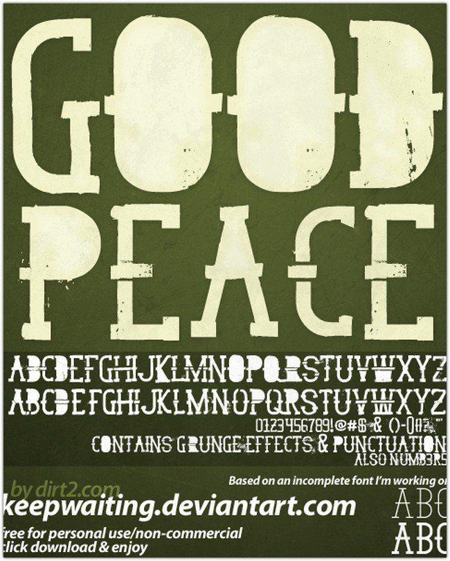 GoodPeace Free Font
