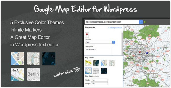 Google Maps Editor for WordPress