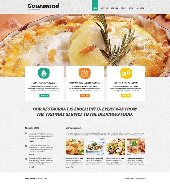 Gourmand Cafe and Restaurant Responsive Joomla Template