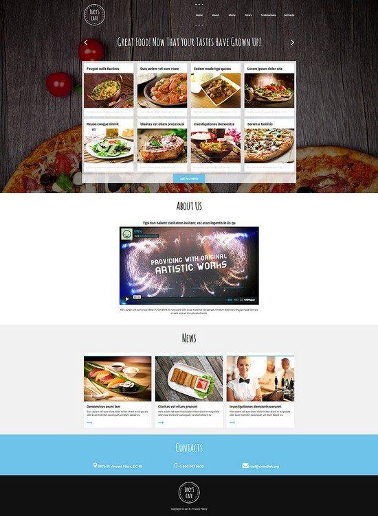 Gourmet Cuisine Restaurant Joomla Template