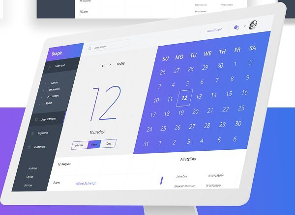 Grapic – Free Dashboard UI PSD