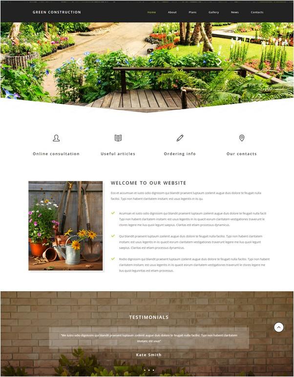 Green Construction Website Template