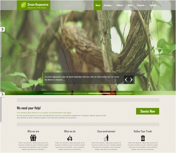 Green Responsive HTML5 Theme