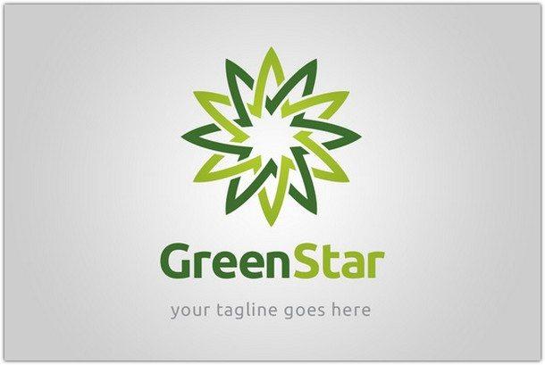 Green-star-logo-template