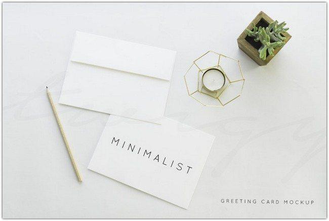 Greeting Card Mockup Minimalist