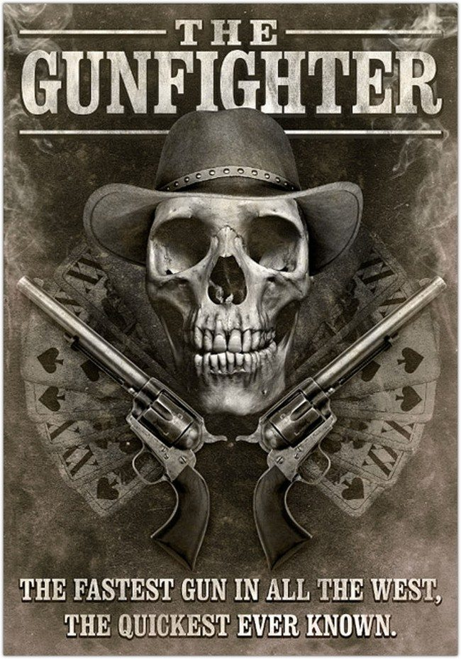 Grungy Western Movie Poster